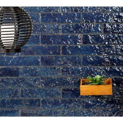 Weston Temp Dark Denim 2 in. x 8 in. 14mm Glazed Clay Subway Wall Tile (40-piece 4.78 sq. ft. / box)