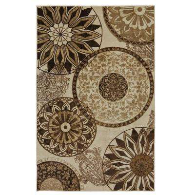 Inspired India Neutral 5 ft. x 8 ft. Area Rug