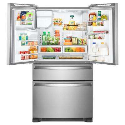 36 in. W 25.0 cu. ft. French Door Refrigerator in Fingerprint Resistant Stainless Steel