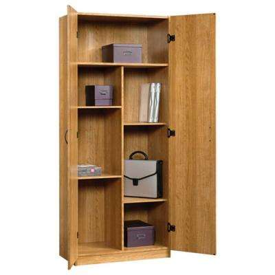 Beginnings Collection 71 in. 5-Shelf Particle Board Storage Cabinet in Highland Oak