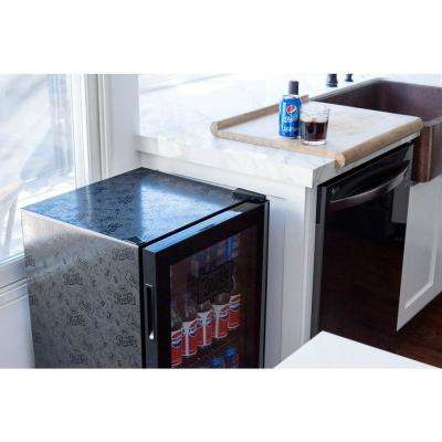 19 in. 126 (12 oz) Can Freestanding Beverage Cooler Fridge Chills Down to 34° with Adjustable Shelves - Pepsi & Pete