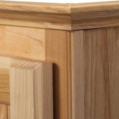 Hampton 25-1/2 in. W x 29 in. H x 7-1/2 in. D Maple Bathroom Storage Wall Cabinet in Natural Hickory