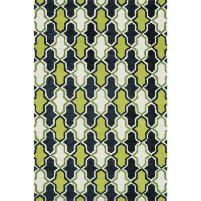 Weston Lifestyle Collection Lime/Charcoal 7 ft. 9 in. x 9 ft. 9 in. Area Rug