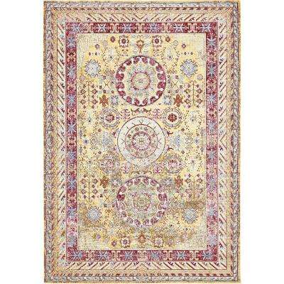 Aria Yellow 6 ft. x 9 ft. Area Rug