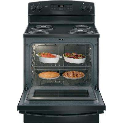 30 in. 5.0 cu. ft. Electric Range with Self-Cleaning Oven in Black