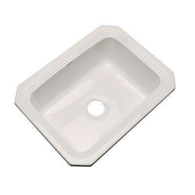 Rochester Undermount Acrylic 25 in. Single Basin Kitchen Sink in Natural