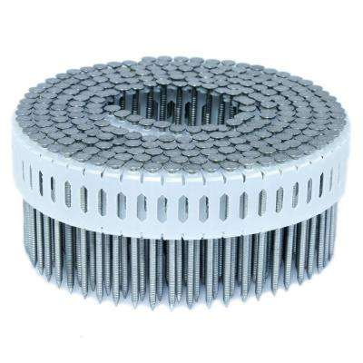 1.875 in. x 0.086 in. 0-Degree Ring Stainless Plastic Sheet Coil Nail 4,000 per Box