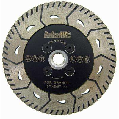 5 in. 2-in-1 Turbo Diamond Blade for Both Cutting and Grinding