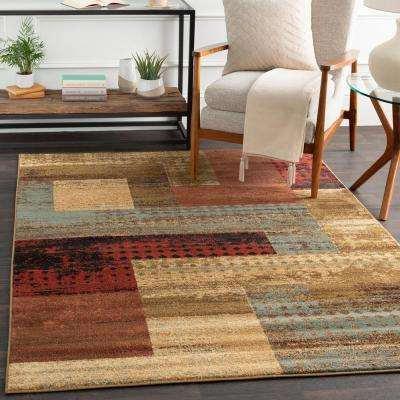 Kazuno Dark Red 3 ft. x 8 ft. Indoor Runner Rug