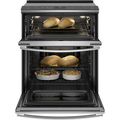 Profile 6.6 cu. ft. Slide-In Smart Double Oven Electric Range with Self-Cleaning Convection in Stainless Steel