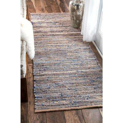 Vernell Jute Natural 3 ft. x 8 ft. Runner Rug