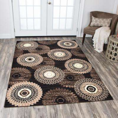 Xcite Brown 8 ft. x 10 ft. Rectangle Area Rug