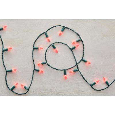 17.3 ft. 50-Light Red LED Faceted C3 Super Bright Constant-On Light String