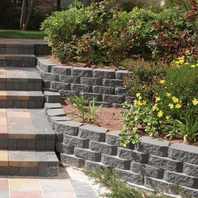 4 in. H x 11.63 in. W x 6.75 in. D Charcoal Retaining Wall Block (144-Pieces/46.6 sq. ft./Pallet)