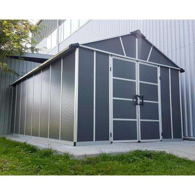 Yukon 11 ft. W x 17.2 ft. D x 8.3 ft. H Dark Gray Storage Shed