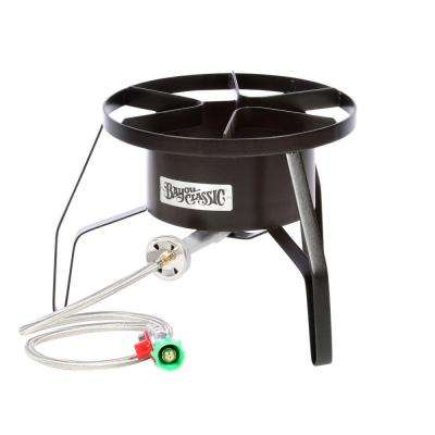 55,000 BTU High-Pressure Propane Gas Outdoor Cooker with Stainless Braided Hose