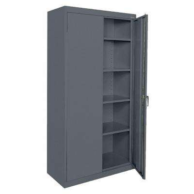 Classic Series 72 in. H x 36 in. W x 18 in. D Steel Freestanding Storage Cabinet with Adjustable Shelves in Charcoal