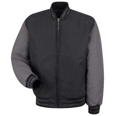 Men's Black/Charcoal Duo-Tone Team Jacket