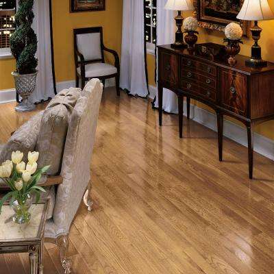 Bayport Oak Natural 3/4 in. Thick x 3-1/4 in. Wide x Varying Length Solid Hardwood Flooring (22 sq. ft. / case)