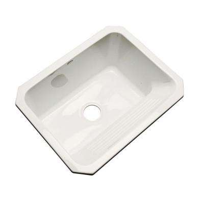 Kensington Undermount Acrylic 25 in. Single Bowl Utility Sink in Biscuit