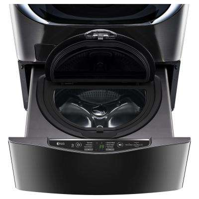 27 in. 1.0 cu. ft. SideKick Pedestal Washer with TWINWash System Compatibility in Black Stainless Steel