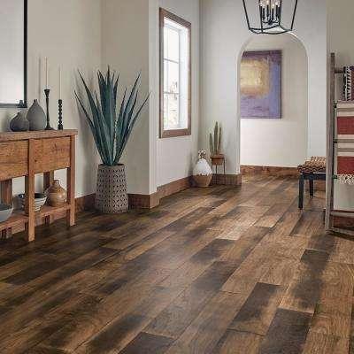 Revolutionary Rustic Walnut Warm Brown 1/2 in. T x 6-3/4 in. W x Vary Length Engineered Hardwood Flooring (21.5 sq. ft.)