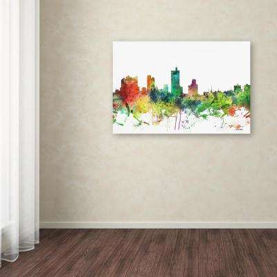 "22 in. x 32 in. ""Fort Worth Texas Skyline SP"" by Marlene Watson Printed Canvas Wall Art"