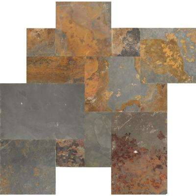 Three Rivers Gold Pattern Gauged Slate Floor and Wall Tile (16 sq. ft. / case)
