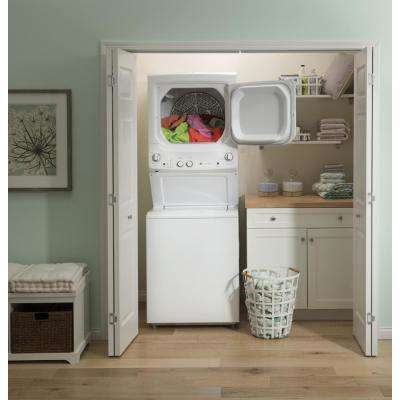 White Laundry Center Washer 3.8 cu. ft. and 5.9 cu. ft. 240 Volt Vented Electric Dryer