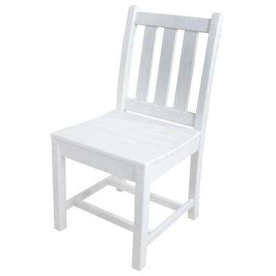 Traditional Garden White Patio Dining Side Chair