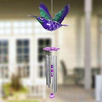 Hummingbird Fluttering Wings Plastic Wind Chimes