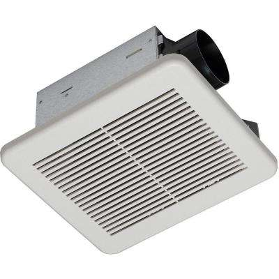 80 CFM No Cut Ceiling Humidity Sensing Bath Fan
