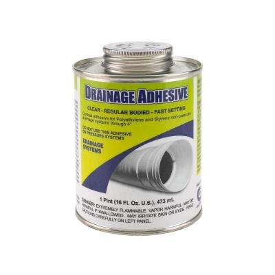 16 oz. Low VOC Drainage Adhesive - Clear