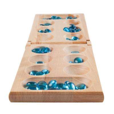 17.5 in. Wooden Folding Mancala Game