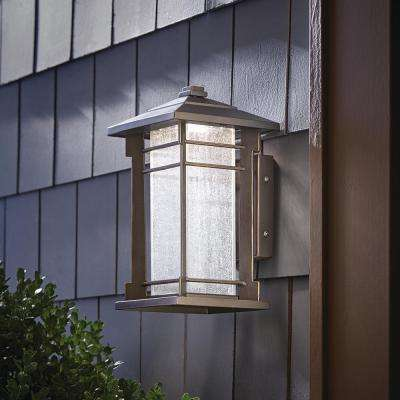 1-Light Oil Rubbed Bronze Outdoor Integrated LED Wall Lantern Sconce