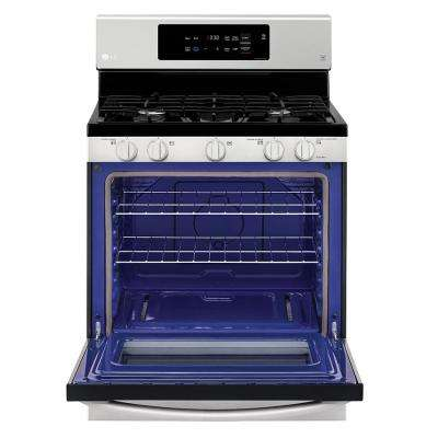 5.4 cu. ft. Gas Range in Stainless Steel with SuperBoil 17000 BTU Burner
