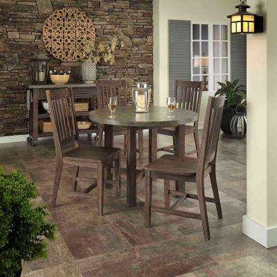 Concrete Chic 5-Piece Outdoor Patio Dining Set
