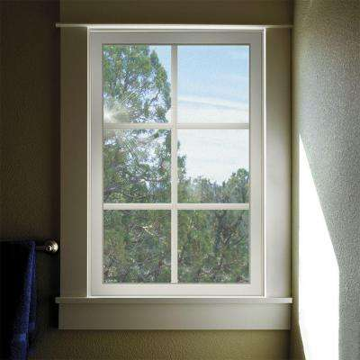 23.5 in. x 23.5 in. V-2500 Series White Vinyl Fixed Picture Window with Colonial Grids/Grilles