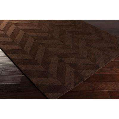 Central Park Carrie Chocolate 2 ft. x 8 ft. Indoor Runner Rug