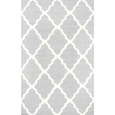 Trellis Light Grey 6 ft. x 9 ft. Area Rug