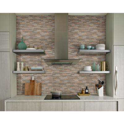 Crystal Vista 12 in. x 12 in. x 8 mm Glass and Stone Mesh-Mounted Mosaic Tile (10 sq. ft. / case)