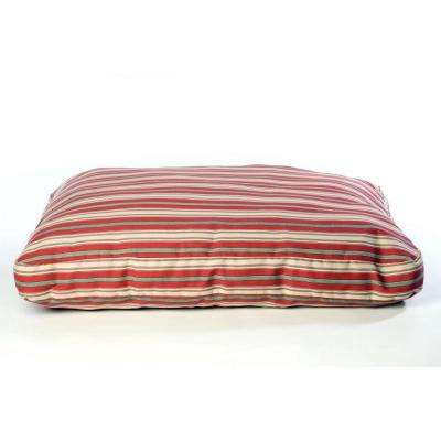 Large Red Indoor/Outdoor Striped Jamison Bed