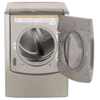 9.0 cu. ft. Smart Electric Dryer with Steam and WiFi Enabled in Graphite Steel
