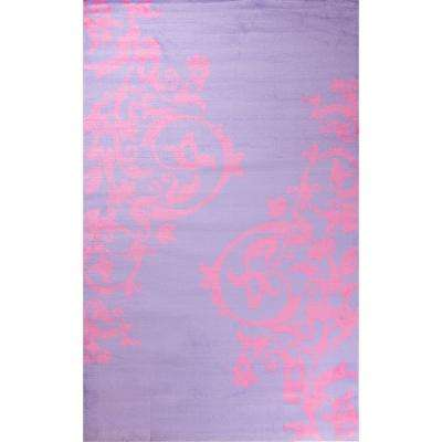 Alisa Tatoo Purple 2 ft. 7 in. x 4 ft. 1 in. Accent Rug