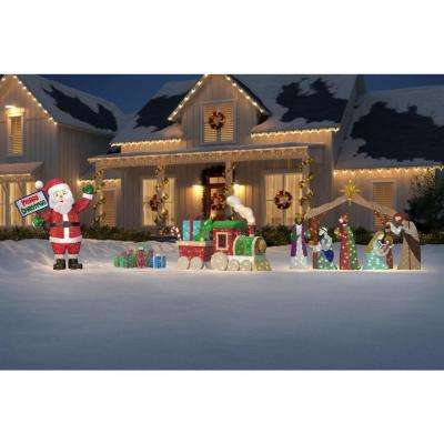 Toasty Tinsel 48 in. LED Lighted Mesh String Train Set