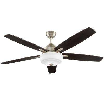 60 in. Sudler Ridge LED Brushed Nickel Ceiling Fan