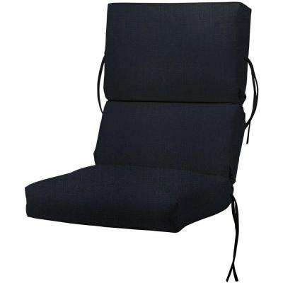 Sunbrella Canvas Navy Outdoor Dining Chair Cushion