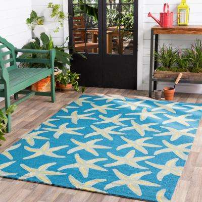 Mount Tyndall Teal 8 ft. x 10 ft. Indoor/Outdoor Area Rug