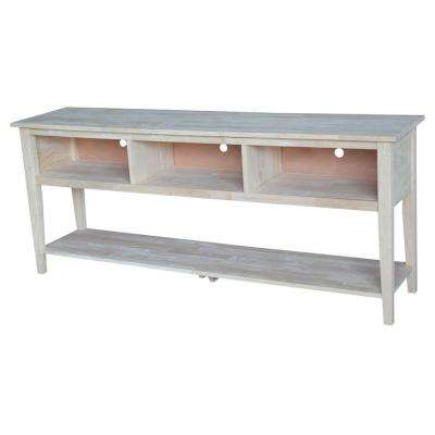 72 in. W Contempt TV Stand in Unfinished