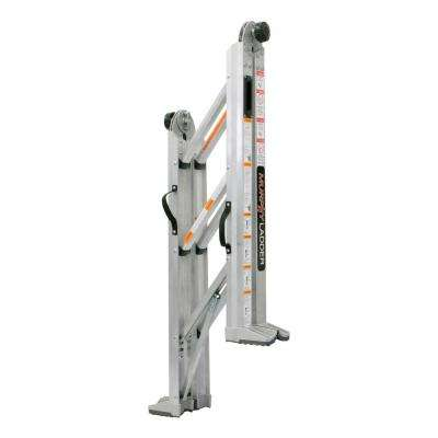 10 ft. Reach Aluminum Fully Compactable Multi-Position Ladder 375 lbs. Load Capacity Type IAA Duty Rating